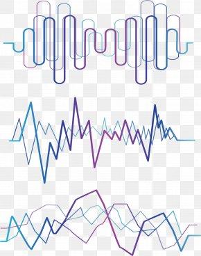 Geometric Wavy Lines PNG