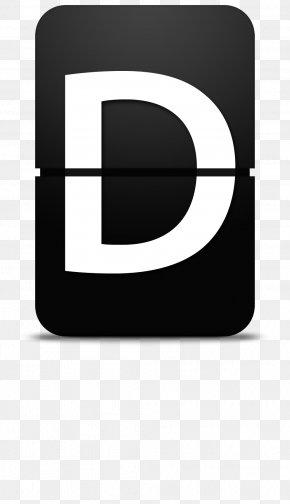 Flop Letter D - Digital Data Numerical Digit Icon PNG