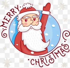 Lovely Christmas Elderly - Santa Claus Christmas Gift Illustration PNG
