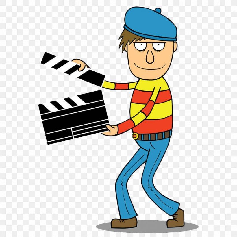 Film Director Cartoon Royalty-free Illustration, PNG, 877x877px, Film Director, Animation, Art, Cartoon, Clapperboard Download Free