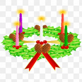 Church Candles - Advent Wreath Advent Sunday Christmas Clip Art PNG