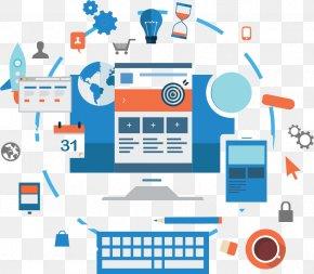 Flat Design Web - Web Development World Wide Web Web Service Web Design Web Application PNG