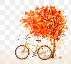 Maple And Bicycles - Autumn Bicycle Royalty-free PNG