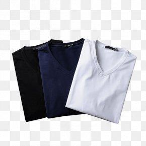 Men's V-neck T-shirt - T-shirt Sleeve Collar Neckline PNG