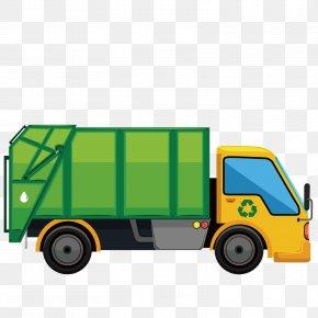 Vector Garbage Truck - Truck Car Illustration PNG