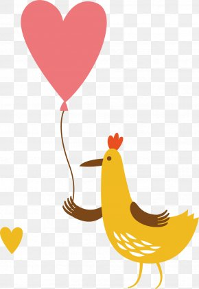 Creative Chicken Balloon - Chicken Rooster Text File Clip Art PNG