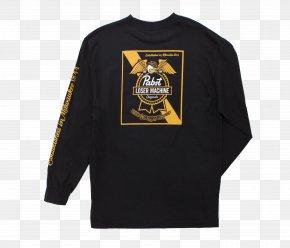 T-shirt - Long-sleeved T-shirt Pabst Blue Ribbon Pabst Brewing Company PNG