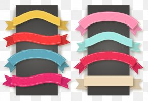 8 Color Ribbon Banner Vector Material - Ribbon Euclidean Vector Icon PNG