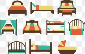 Beds Set - Bedroom Quilt Bed Size PNG