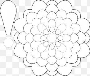 Flower Petals Template - Floral Design Paper Flower Petal Pattern PNG