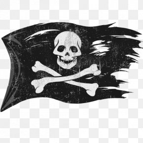 Pirate Flag - Jolly Roger Piracy Flag PNG