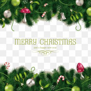 Christmas Border Vector Material - Royal Christmas Message Wish Greeting New Year PNG