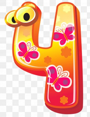 Cute Number Four Clipart Image - Number Blog Clip Art PNG