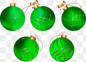 Sphere Emerald - Christmas Ornament PNG