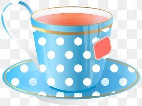 Blue Tea Cup Transparent Clip Art Image - Teacup Clip Art PNG