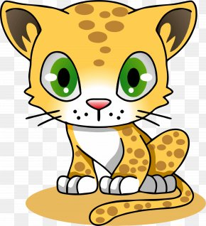 January Cat Cliparts - Cartoon Jaguar Felidae Amur Leopard Clip Art PNG