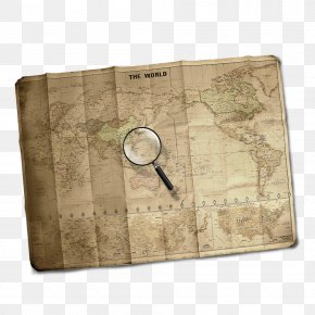 Free To Pull The Material To Do The Old Map - World Map Paper PNG
