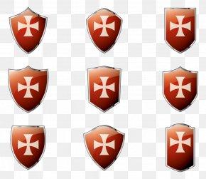 Templar Shield Vector - Shield Euclidean Vector PNG