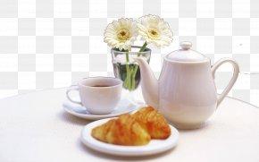 Tea Leisure Time - Flowering Tea Table Cup Wallpaper PNG