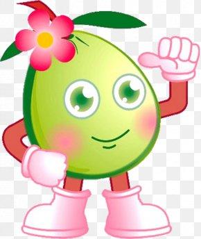 Cartoon Flower With Grapefruit Cartoon Man - Fruit Pomelo Cartoon PNG