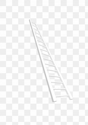 Ladder - Line Angle Point Black And White PNG