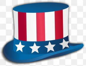 Patriotic Cliparts - Uncle Sam Independence Day Top Hat Clip Art PNG