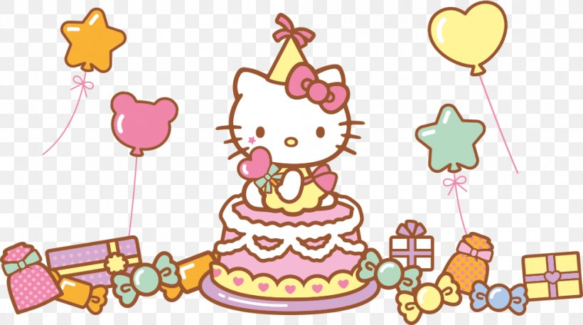 Groovy Hello Kitty Birthday Cake Drawing Png 995X555Px Hello Kitty Personalised Birthday Cards Paralily Jamesorg