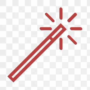 Red Essential Set Icon - Wizard Icon Magic Wand Icon Essential Set Icon PNG