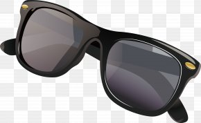 Black Sunglasses - Goggles Sunscreen Sunglasses PNG