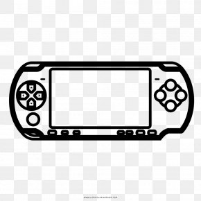 Playstation - Video Game Console Accessories Drawing PlayStation Portable Coloring Book PNG