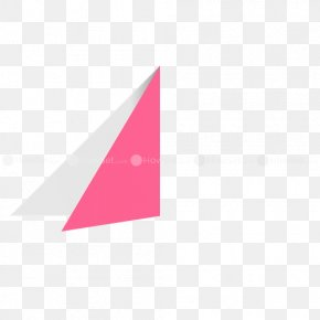 Paper Heart - Triangle Origami Paper Logo PNG