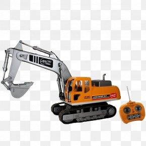 Excavator - Caterpillar Inc. Heavy Machinery Excavator Radio-controlled Car Radio Control PNG