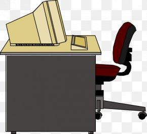 Bean Cliparts Desk - Computer Desk Office Clip Art PNG