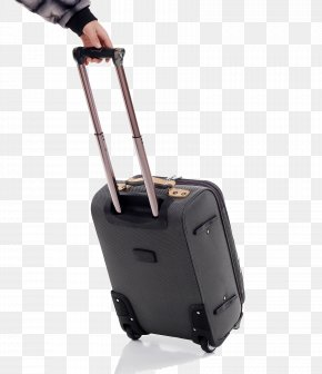 Black Suitcase - Hand Luggage Baggage Suitcase Bag Tag Travel PNG