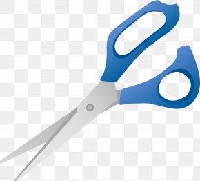 Blue Scissors Image Download - Scissors Hair-cutting Shears Clip Art PNG