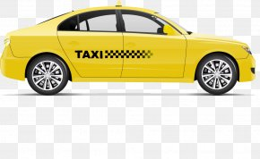 Hand-drawn Cartoon Illustration Yellow Taxi - Taxi Drawing Photography PNG
