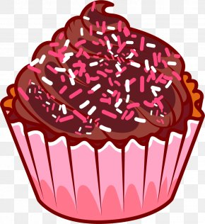 Cartoon Cupcakes - Cupcake Chocolate Cake Chocolate Ice Cream Muffin PNG