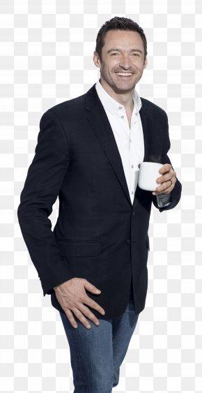 Hugh Jackman HD - Hugh Jackman Laughing Man Coffee Tea Cafe PNG