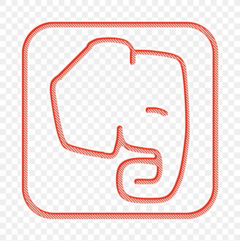 Evernote Icon Media Icon Network Icon, PNG, 1176x1180px, Evernote Icon, Line Art, Media Icon, Network Icon, Rectangle Download Free