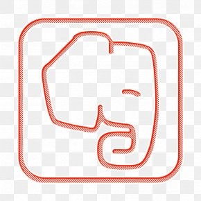 Rectangle Line Art - Evernote Icon Media Icon Network Icon PNG