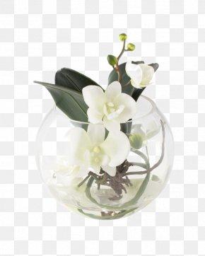 White Soft-mounted Decorative Glass Vase - Floral Design Vase Flower Bouquet Glass PNG