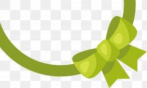 Green Ribbon Ribbon - Ribbon Computer File PNG