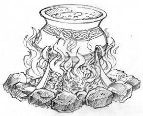 Cauldron - Cauldron Drawing Witchcraft Coloring Book Clip Art PNG