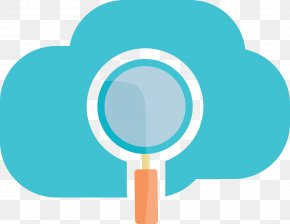 Magnifying Glass And Cloud Map - Magnifying Glass Cloud Computing Internet Of Things PNG