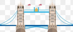 Vector Painted Flat In London Bridge - London Bridge Tower Of London Tower Bridge Big Ben London Eye PNG