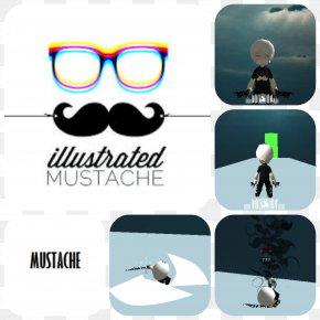 Mustache Sketch - Sunglasses Logo Goggles PNG