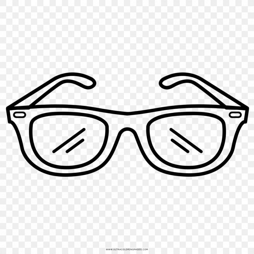 Sunglasses Drawing Goggles Coloring Book Png 1000x1000px Glasses Area Black Black And White Color Download Free