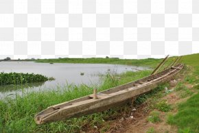 Abandoned Boats On The Banks Of The River - River PNG