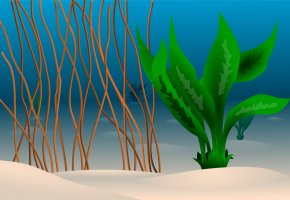 Sea Plants Cliparts - Seabed Ocean Underwater Clip Art PNG