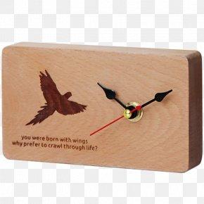 Simple Wood Animal Bird Clock - Northern Europe Clock Table PNG